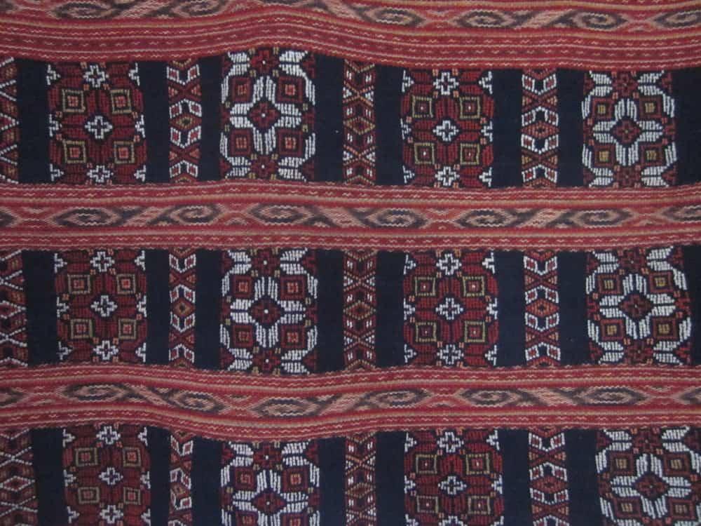 Biboki textile with buna