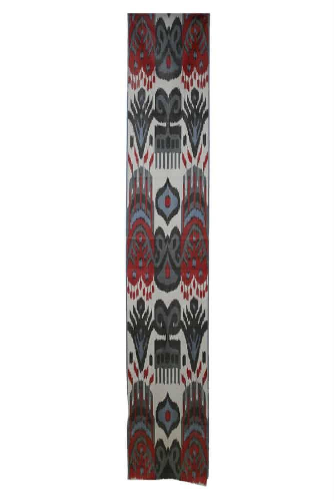 Silk Ikat Stole, 222.5 cm x 38 cm, Uzbekistan