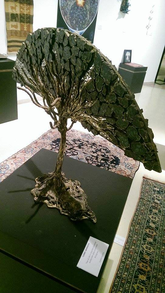 Tree of Life in recycled shattered windscreen glass and metal, Gabby Barredo, Contemporary, Philipines