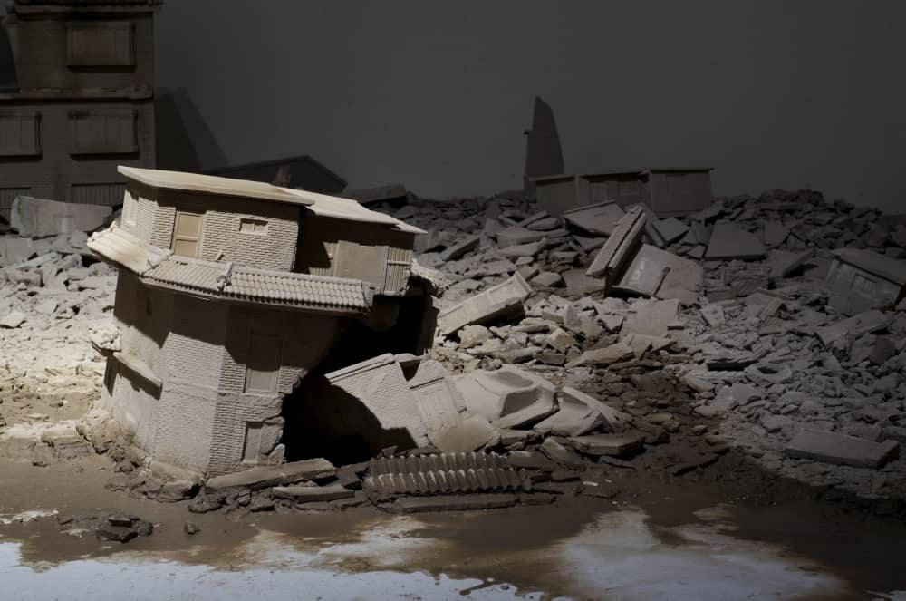 Juree Kim, Landscape, clay, water, 400 x 400 x 50cm, Gyeonggi International Ceramic Biennale, 2015