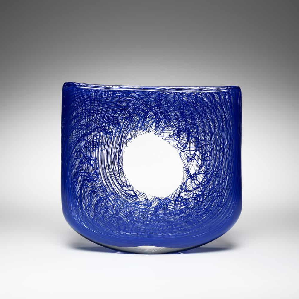 Andrew Baldwin, Mini void 3, blown glass H 14 x W 19 x D 4cm, made in South Australia, photo Michael Haines