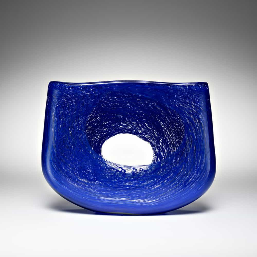 Andrew Baldwin, Mini void 4, blown glass, H 14 x W 19 x D 4cm, made in South Australia, photo Michael Haines