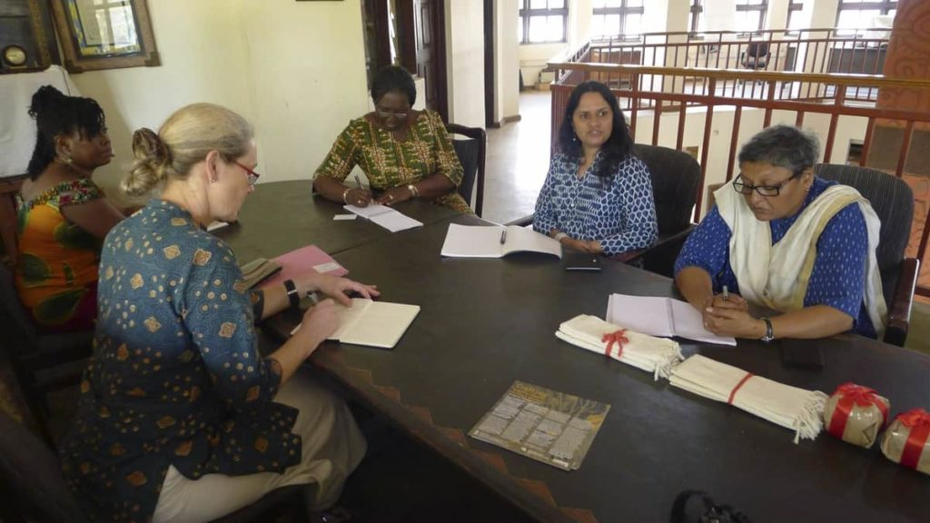 Planning the workshop at Aid to Artisans, Ghana