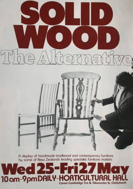 Solid Wood: The Alternative, poster chair on left by Colin Slade