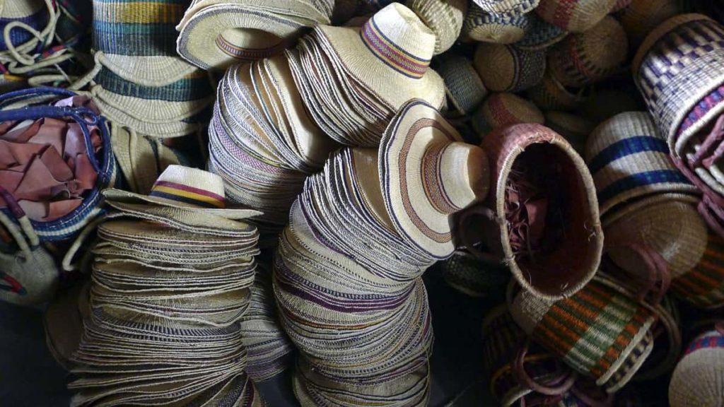 Hats in the Bolgatanga market, October 2014