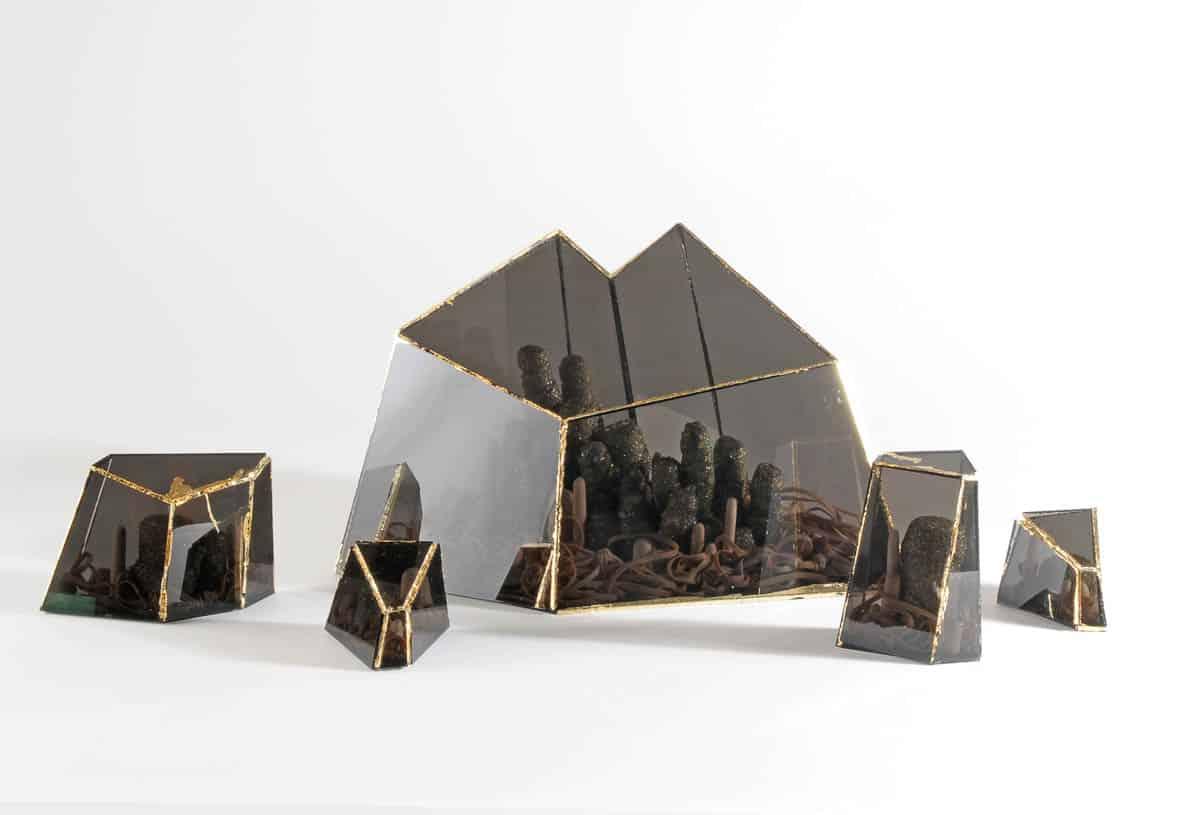Katharine Redford, Natural stone, silver, natural crystal, acrylic