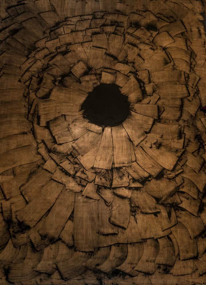 Rebecca Chernow, Gegenschein (Unmaking & using as natural fertilizer), Biochar, 914.4 x 609.6cm (aerial view), photo: Joe Freeman and Ian Lewis, Seattle, USA