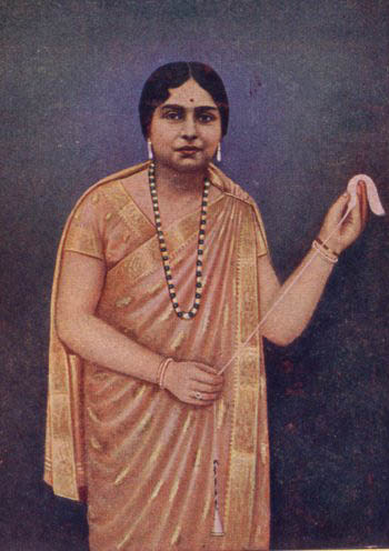 Kamaladevi Chattopadhaya Detail from a publicity campaign of early 1940s