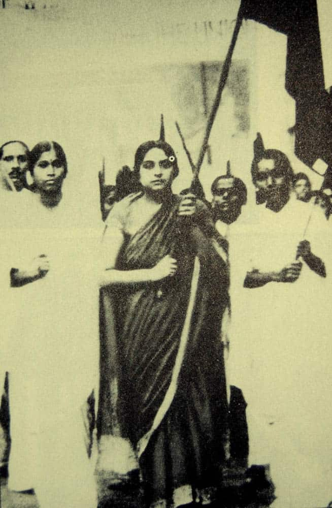 Kamaladevi Chattopadhyaya - Leading a Congress march in the early 1930s