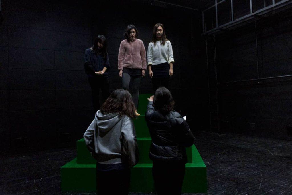 Laura Carthew on set at Korea National University of the Arts, making 'Immortal flower (무궁화).'