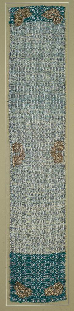Afsaneh Modiramani, tableau, silk, cotton, silver, 14 x 73cm