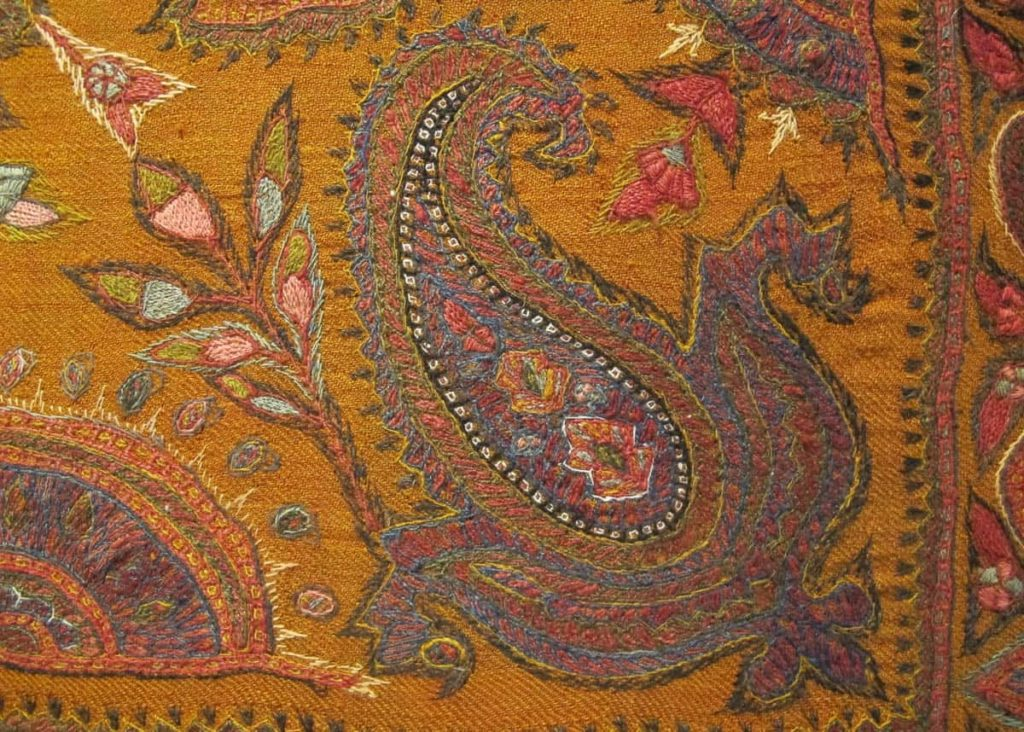 Patteh, antique shawl boteh detail