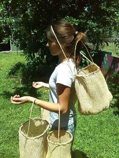 Delissa Walker wearing kankan baskets