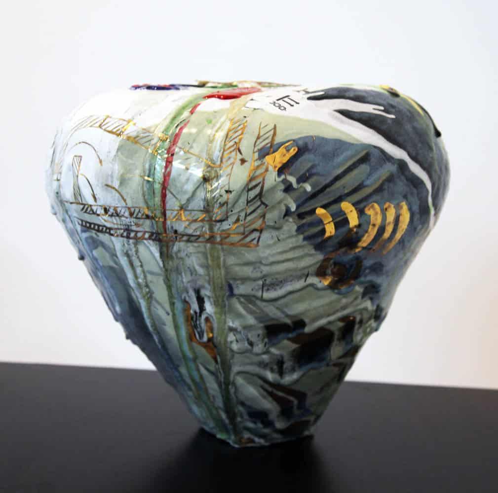Andrei Davidoff, Portrait of the artist as a potter, 2016, ceramic, stoneware glazes, earthenware glazes, glass