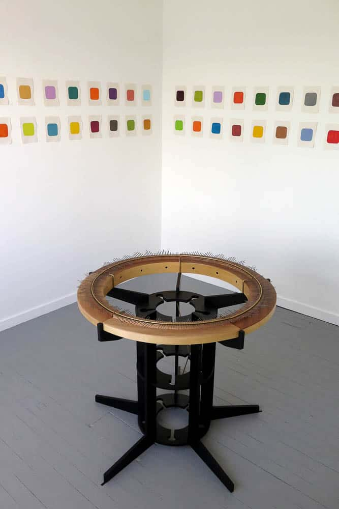 The social lamellaphone and colournotes at SNO Contemporary Art Projects, Marrickville Sydney NSW, 2014, photo: Gary Warner