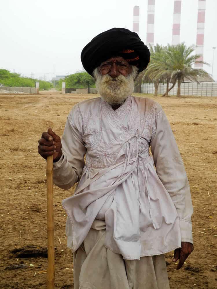 Rabari man backdrop industry