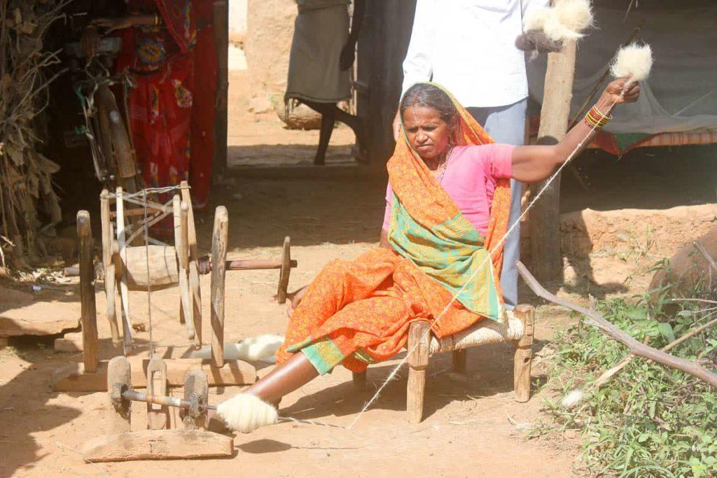 Woman spinning by Shatarupa Thakurta Roy