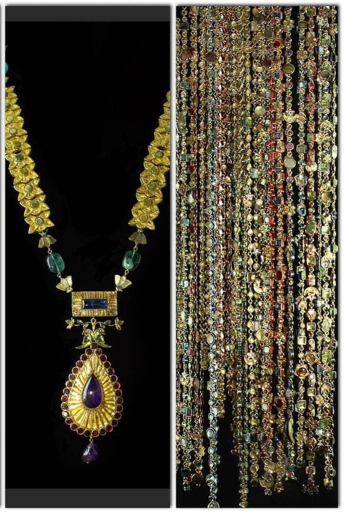 Amber Sami, Neckpieces from 'The Persian Garden' collection