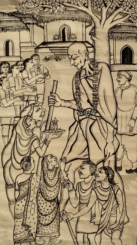 Orissa patachitra, paper
