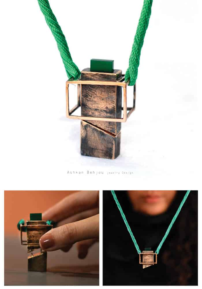 Untitled (The color factory collection), 2016, Bronze and enamel, Necklace: 9*9*0.5 cm, Ring: 2*3.5*1 cm
