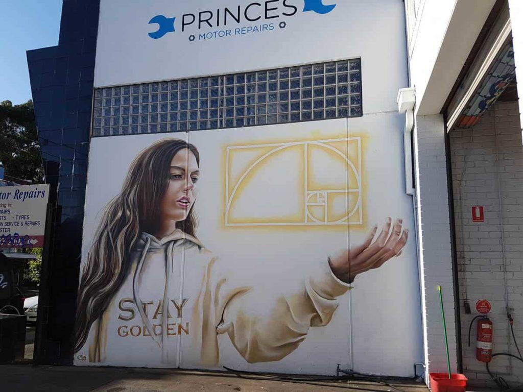 Peter Seaton, Stay Golden, 2016, Lygon Street Brunswick, Melbourne, Australia