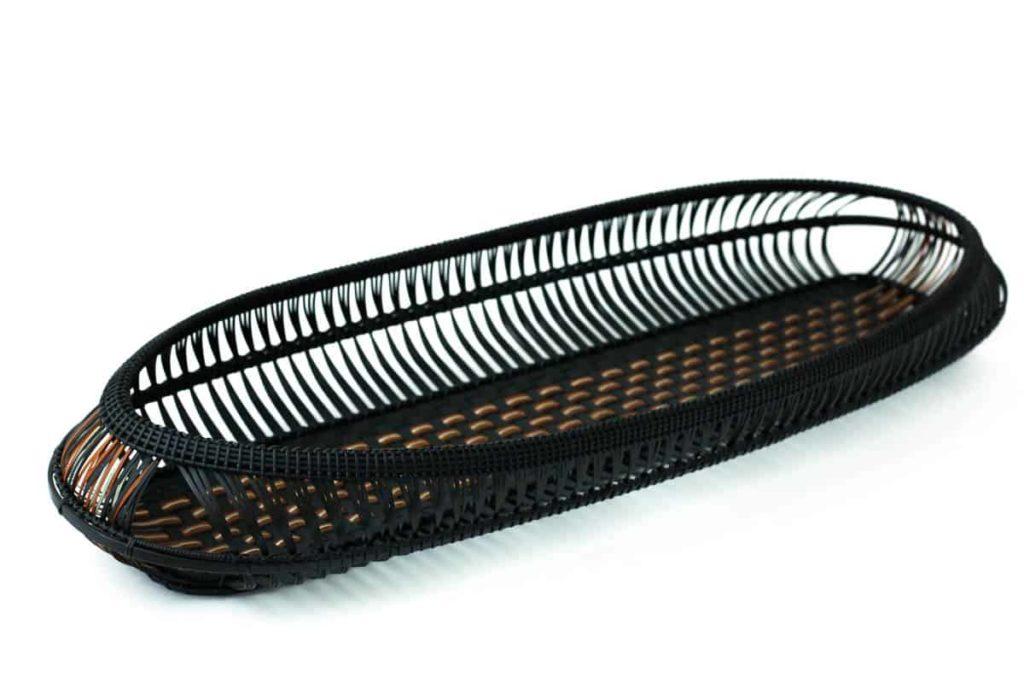 Hafu Matsumoto, Kushime pattern bamboo tray, Ginryu
