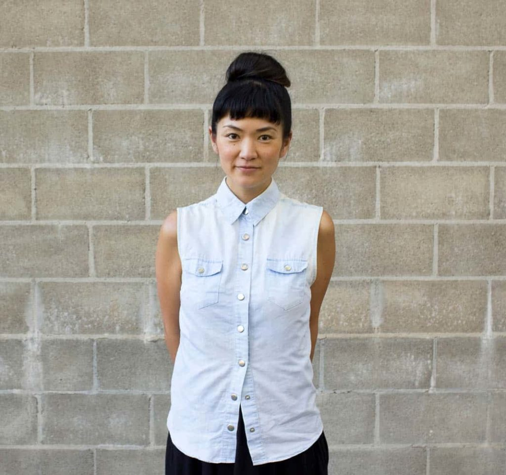 Kyoko Hashimoto, who designed the piece with Guy
