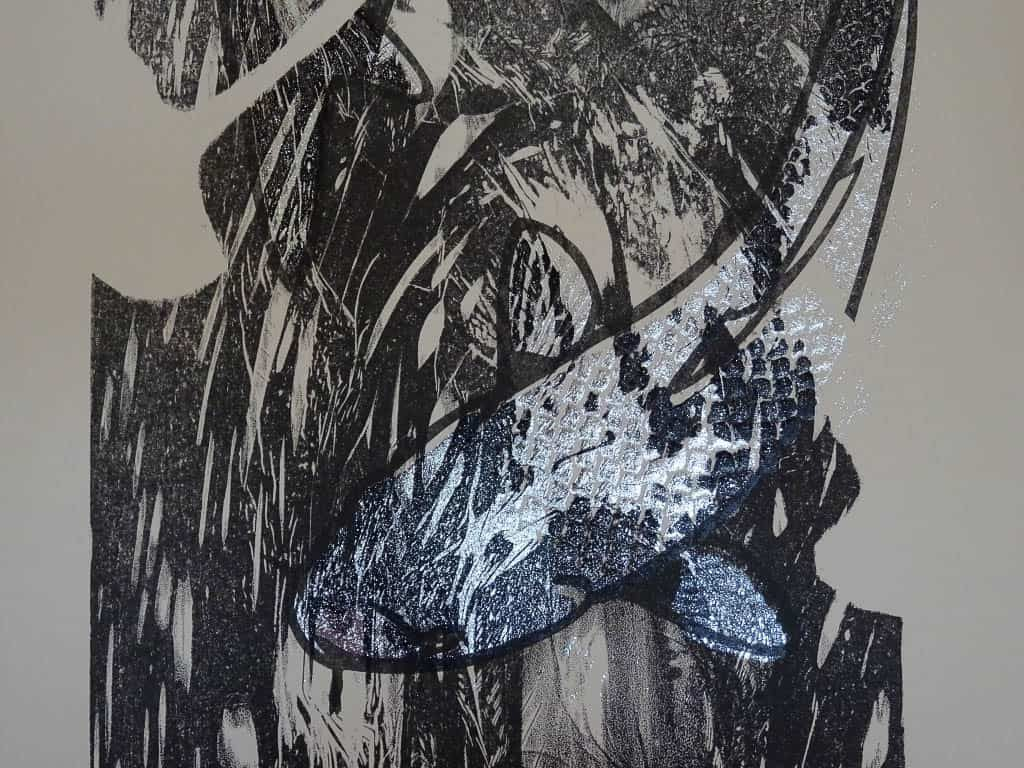 Silver Koi, printed over