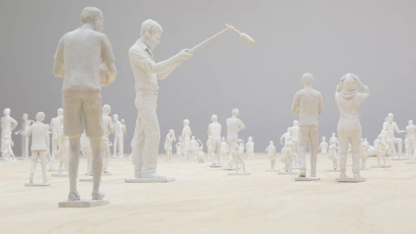 """On history making and cooperation: Tom Nicholson's """"I was born in Indonesia"""" Yogyakarta diorama makers made figures based on stories of Hazara refugees."""