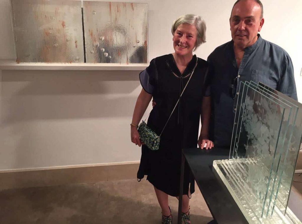 Ros Piggott and Maurizio Vidal at the exhibition Garden fracture/ Mirror in vapour: part 1 at VeniceArtFactory, Castello, Venice, September 2016.