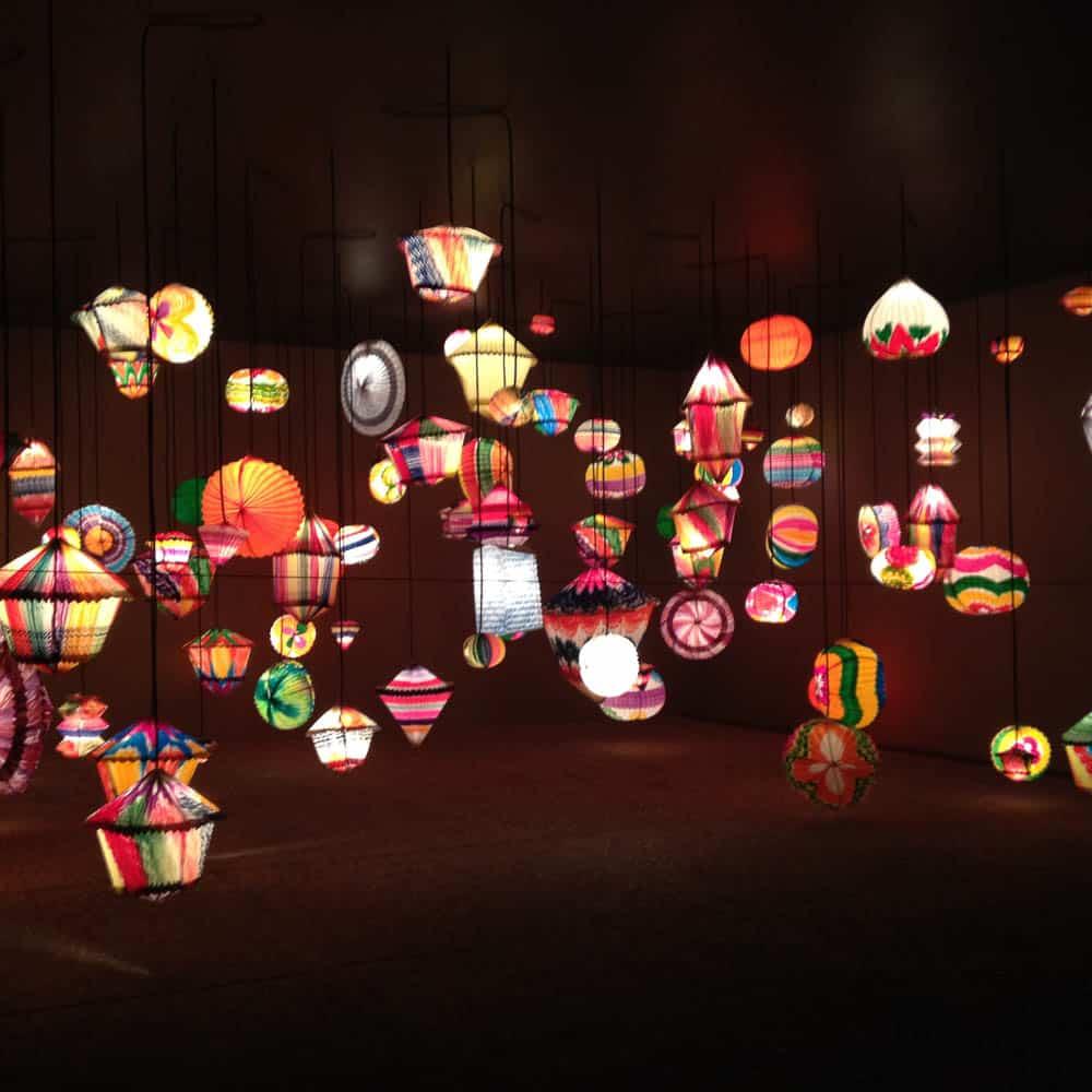 Painted paper lanterns, La Zamorana Marvels Shop, Mexico City