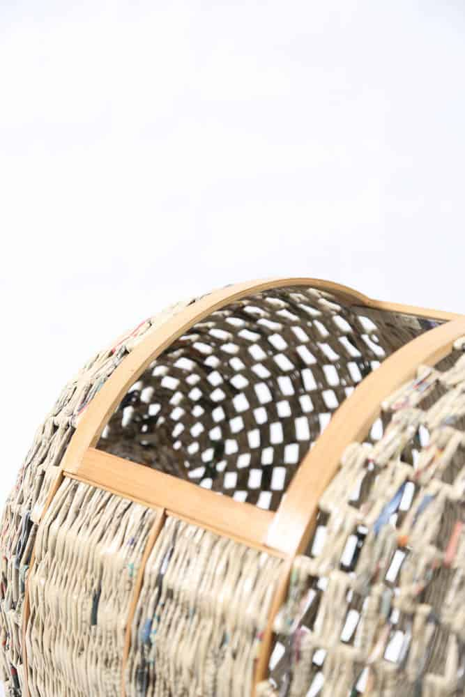 Enin 2: Harry Mawardi, Enin Laundry Basket, 2016, Bamboo+Paper+Metal, 45x57x47 cm, photo: Harry Mawardi