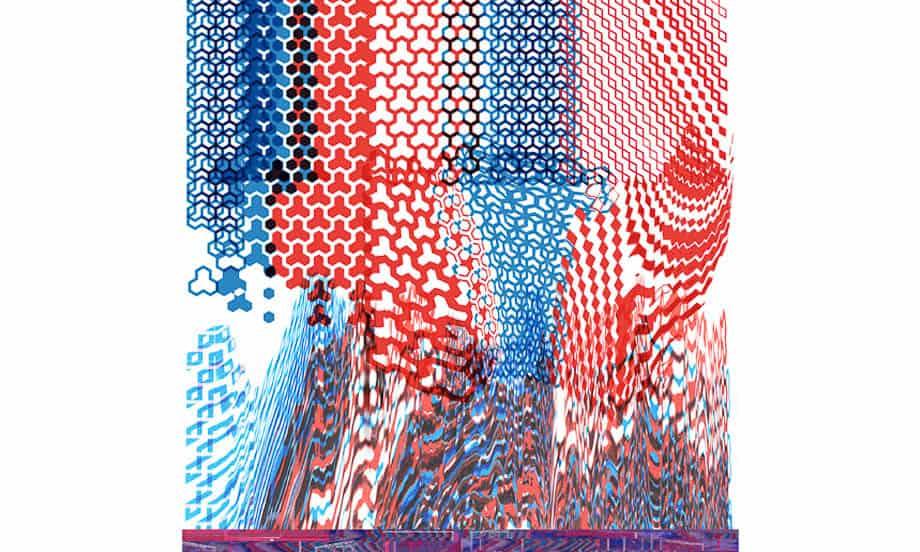 Textile print by Emlyn Firth