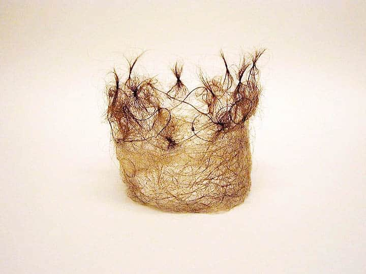 Masooma Syed, 'The Crown, 2015, human hair, 8cm x 8cm