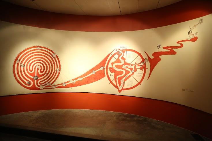 Yatra Kalamkari; Bérénice Ellena (In collaboration with Sri Niranjan, Institut Français); Kalamkari; 76.0 x 198.0 inches; Shrikalahasti, 2014
