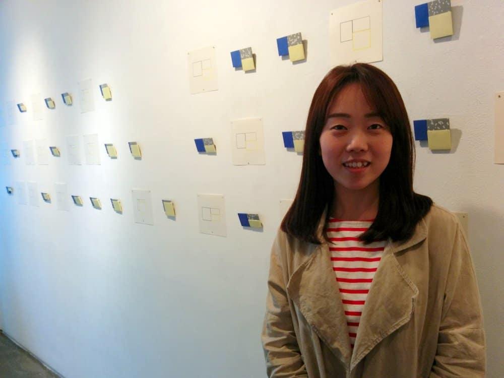 Hyunju KIM at her exhibition Plus-minus