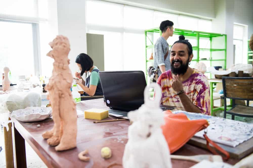 Ramesh Mario Nithiyendran (foreground)