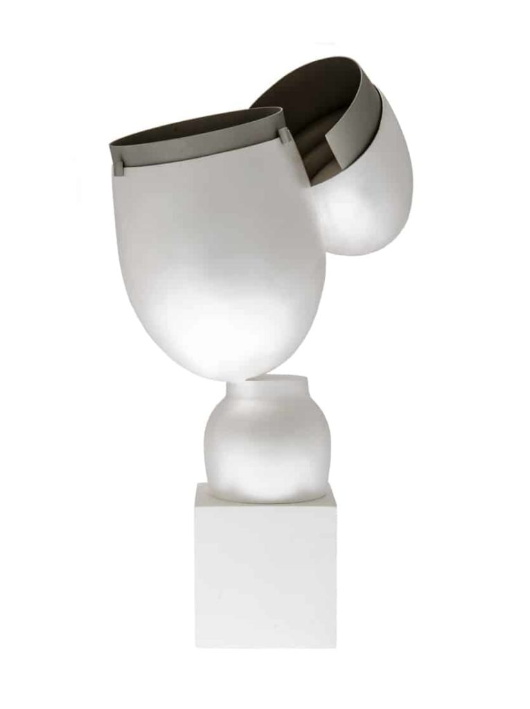 Daehoon, Condiment object, sterling-silver, stainless-steel, hammer-raised sterling silver, structured, 16.0 x-12.0 x 23.0-cm