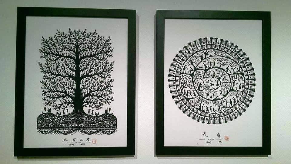 Hand cut paper, Yu Yuan, Contemporary, China