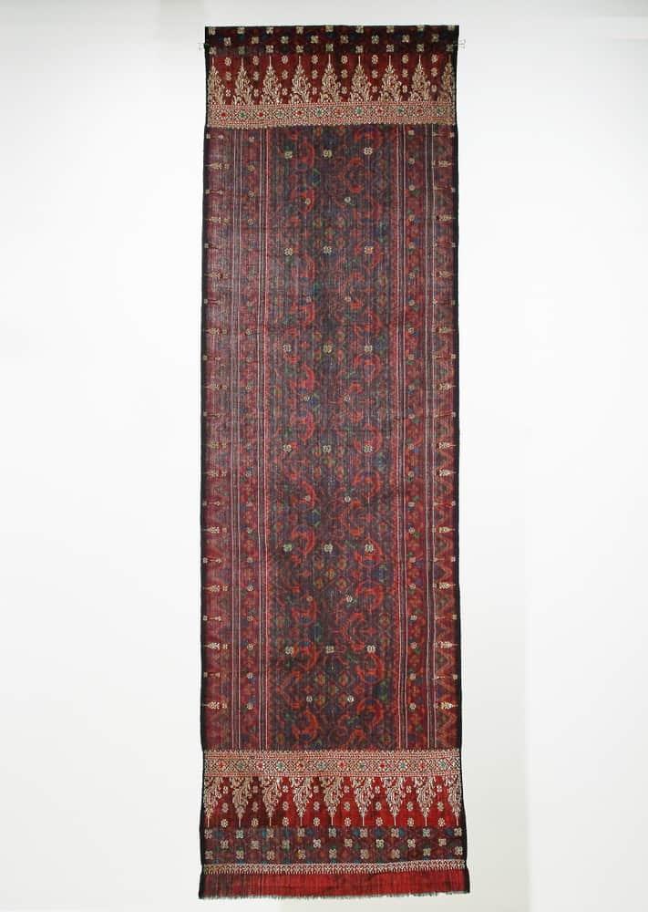 Kain Limar Songket, 190.5 cm x 56 cm, Palembang, Indonesia