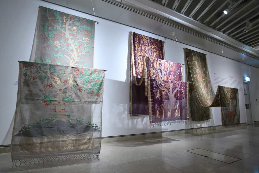 Khadi jamdani saree hand woven cotton, Series of 3, Gaurung Shah,Traditional, India