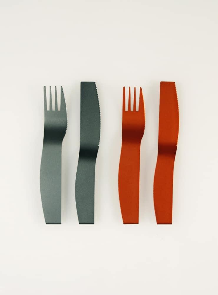 Ye-yeon Park, Cutlery 1, aluminum, 160 x 30 x 5 (mm), 2011