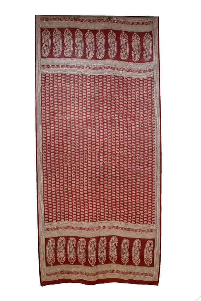 Print Silk Paisley Shawl, 249 cm x 113 cm, Bagh, India