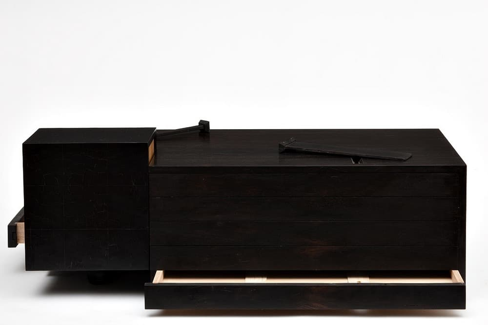 Damien Wright, Pama, ancient red gum, Japanese oak and celery top pine, 1000 x 500 x 400mm