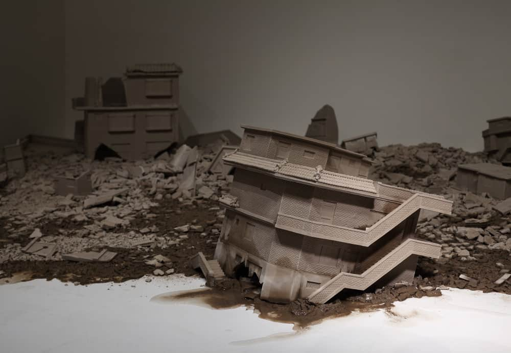 Juree Kim, Landscape, clay, water, 400 x 400 x 50cm, Gyeonggi International Ceramic Biennale, 2015