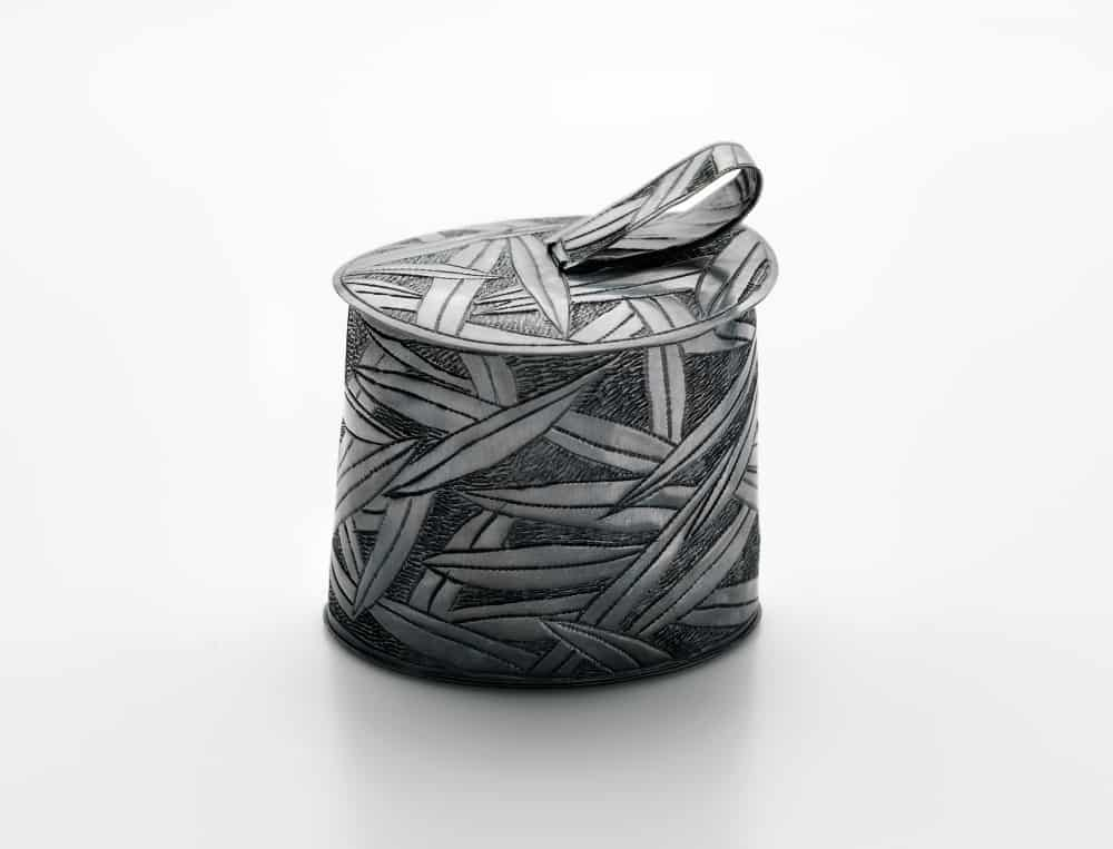 Julie Blyfield, Quandong container, oxidised sterling silver, wax, 2015