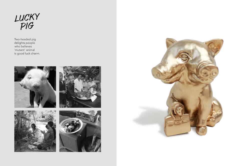 This.means.That stuido by Tunchanok Yavilas & Panjapol Kulpapangkorn, Lucky pig, resin, 15 x 15 x 16cm, made in Bangkok, photo: artists