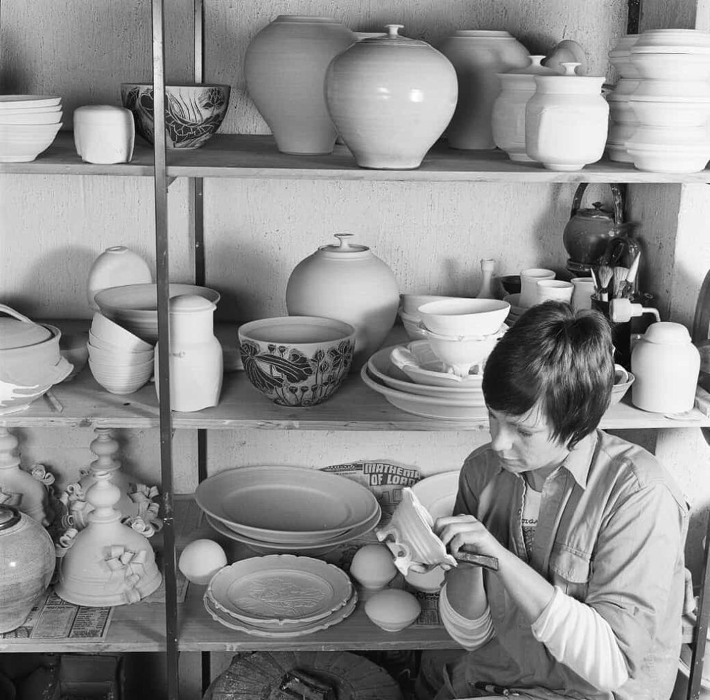 Ceramics workshop, 1979, photo by Grant Hancock