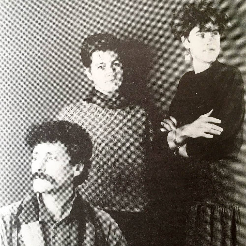 1989, Guildhouse Makers' Choice artists L – R Bruce Nuske, Catherine Truman, Kay Lawrence