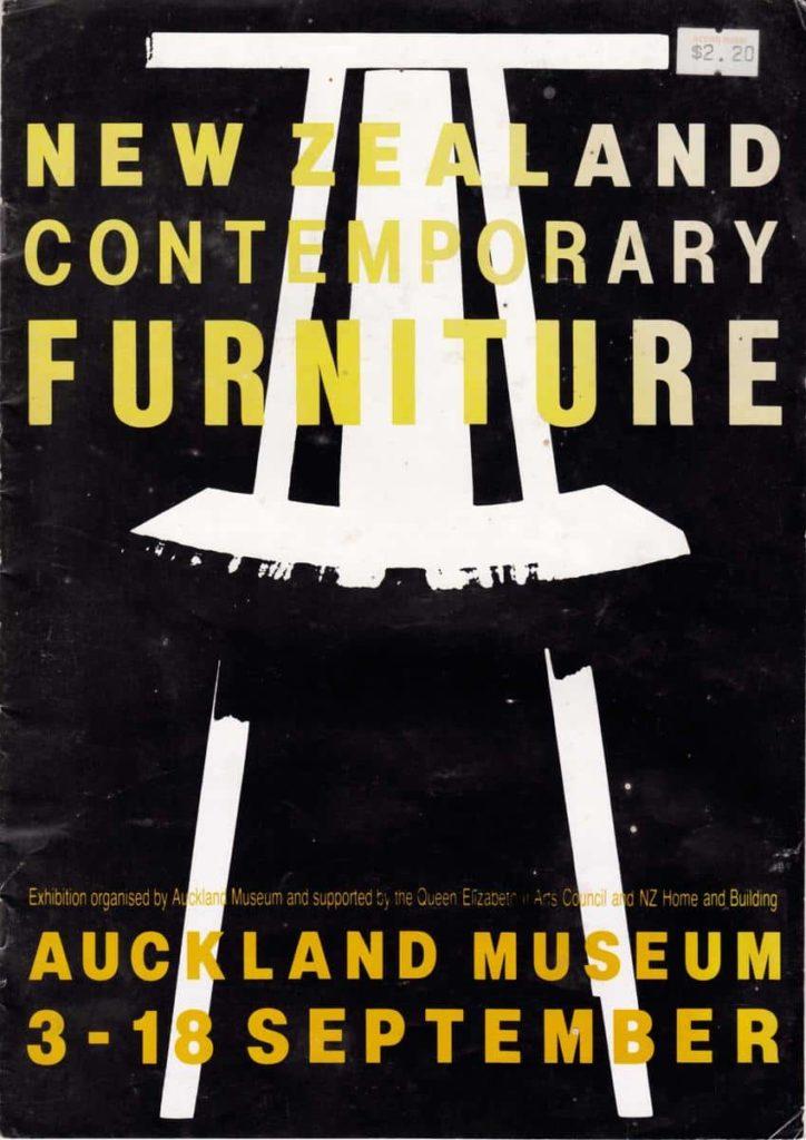 New Zealand Contemporary Furniture Show, 1988, poster Humphrey Ikin chair